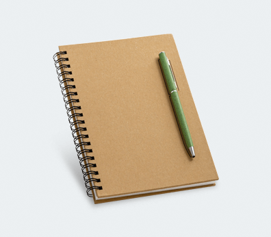 Kraft Paper Notebook Customised with your design