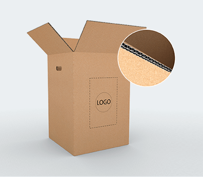 Double Wall Cardboard Boxes with Side Handles Customised with your design