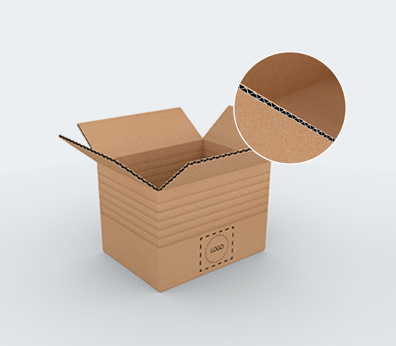 Single Wall Adjustable Cardboard Boxes with Crash Lock Base Customised with your design