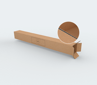 Single Wall Cardboard Boxes for Long Products with Top Opening Customised with your design