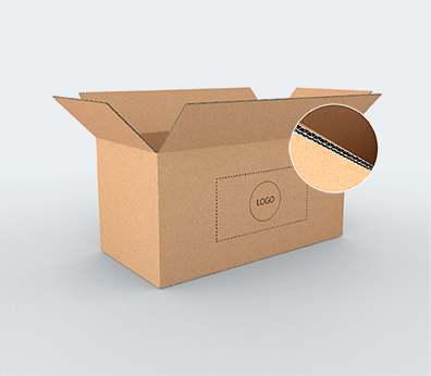Large Size Horizontal Double Wall Cardboard Boxes Customised with your design
