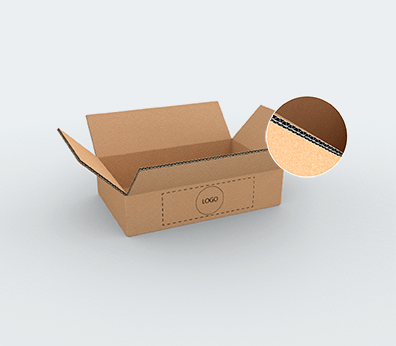 Medium Size Horizontal Double Wall Cardboard Boxes Customised with your design