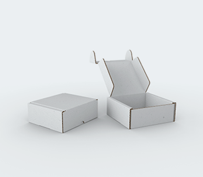 Single Wall Cardboard Postal Boxes with Locking Flaps Customised with your design