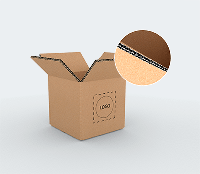 Double Wall Square Based Cardboard Boxes Customised with your design