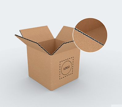 Single Wall Square Based Cardboard Boxes Customised with your design