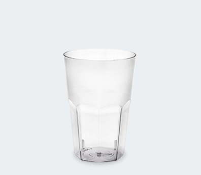 Plastic faceted cup