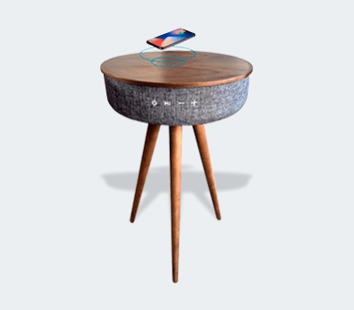 Table with speaker and wireless charger Customised with your design