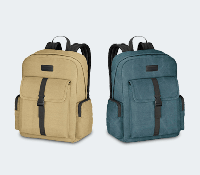 Cotton Laptop Backpack Customised with your design