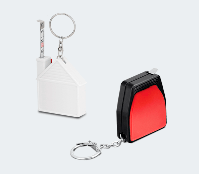 Keychain with Measuring Tape Customised with your design