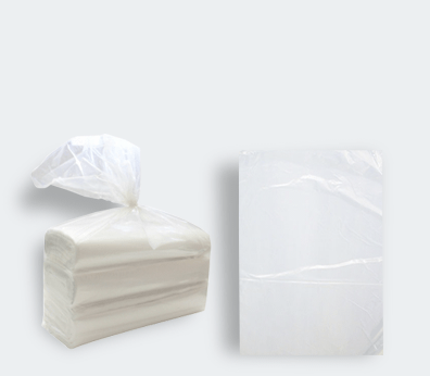 Low density plastic bag without handles (roll)