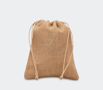 Jute Drawstring Backpack Customised with your design