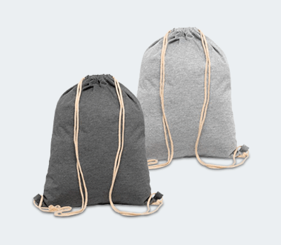 Wool Drawstring Backpack Customised with your design
